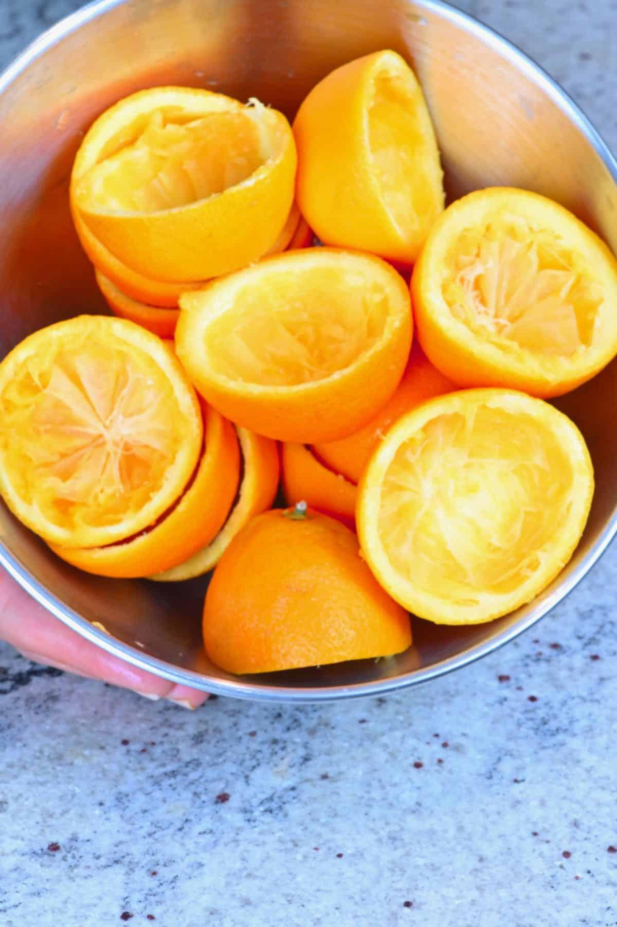 Leftover orange skins