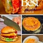 Steps for making pumpkin burger