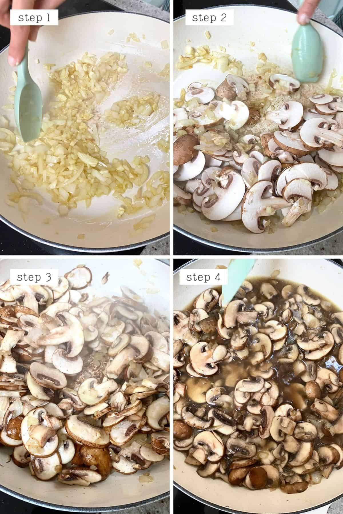 Steps for cooking mushrooms