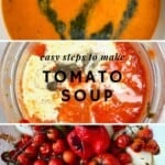 Steps for making tomato soup