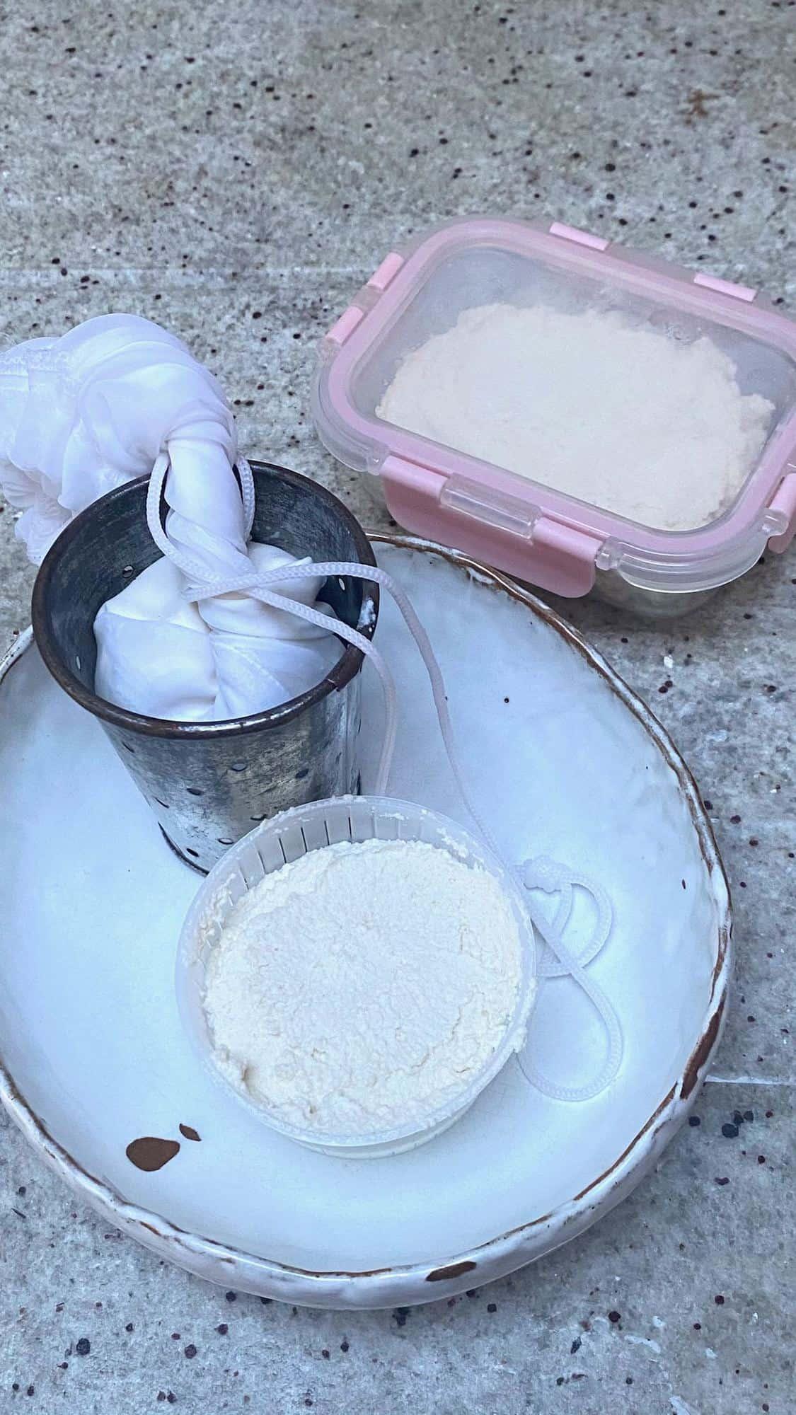 Making vegan almond ricotta