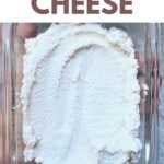 Vegan Ricotta Cheese in a glass container