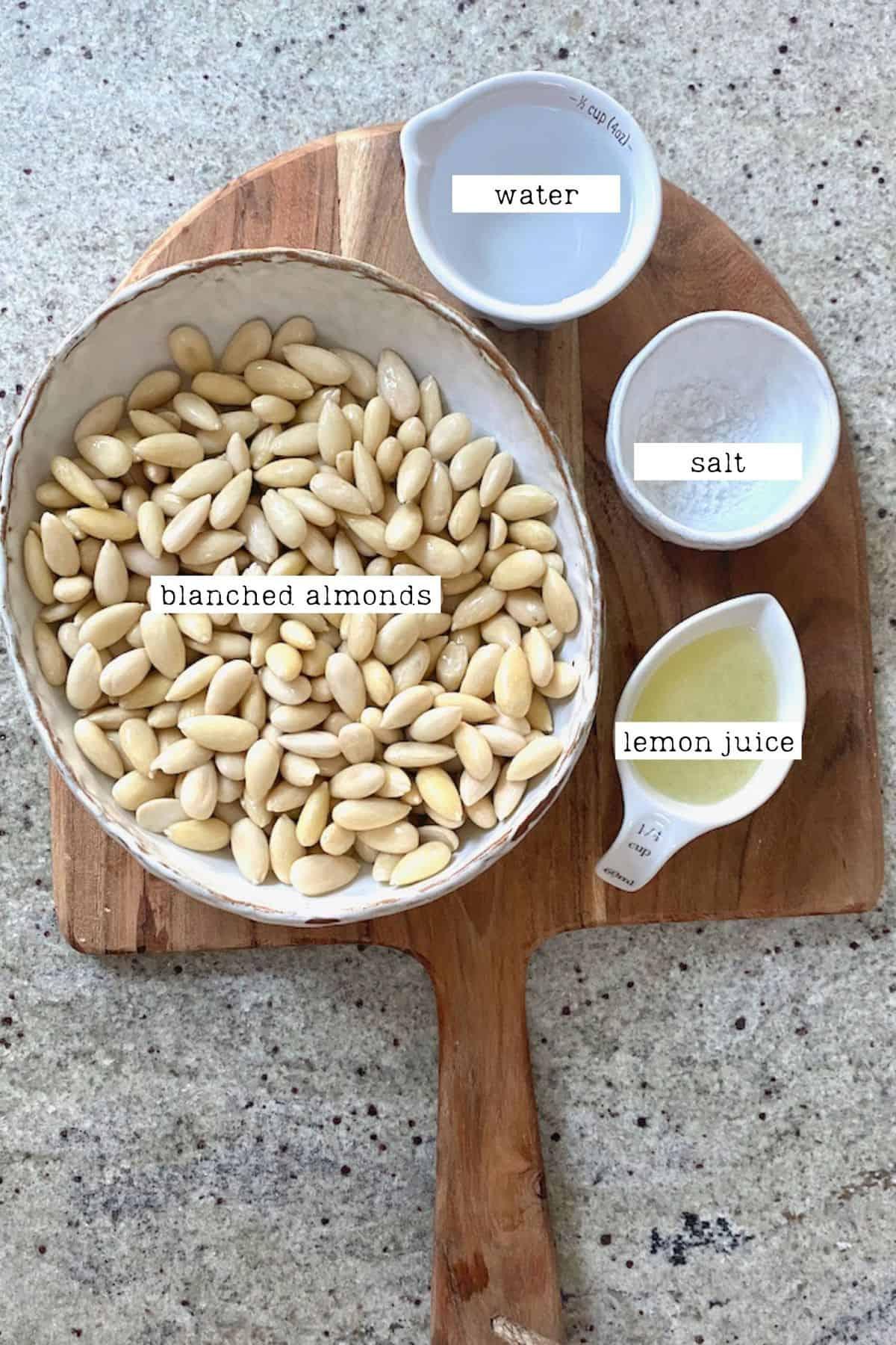 Vegan Ricotta Ingredients