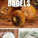 Steps for making bagels