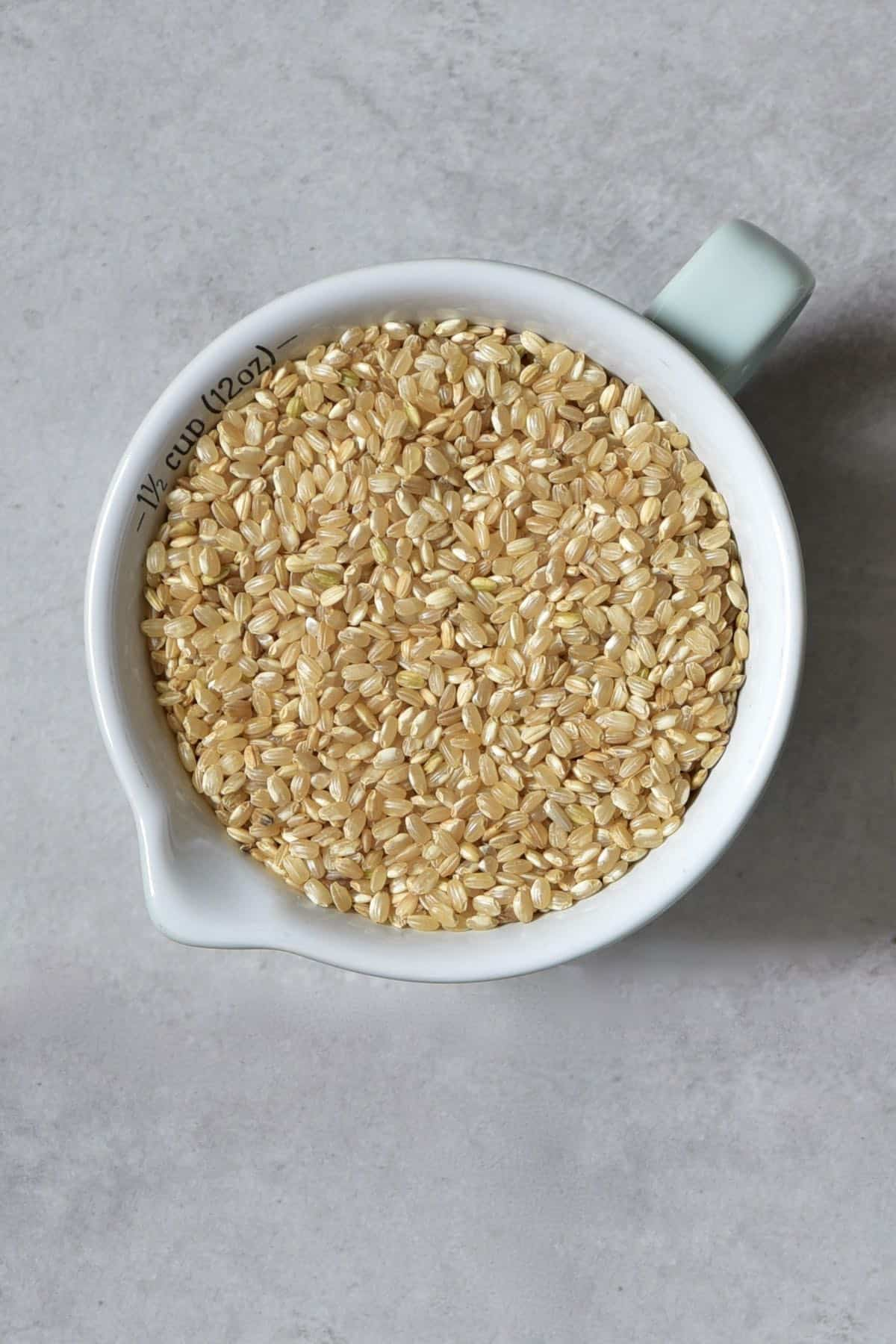 A half cup of brown rice