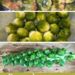 Steps to making Oven-roasted Brussels sprouts