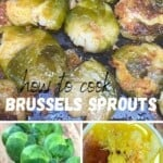Steps for preparing Oven-roasted Brussels sprouts