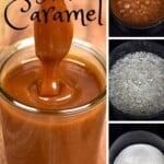 Steps for making caramel sauce