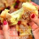 Stretchy cheese inside bread bun