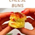A bread bun with cheese
