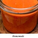 Chili sauce in a jar