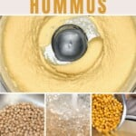 Steps for making hummus