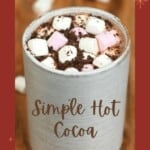 Hot Cocoa in a cup topped with marshmallows