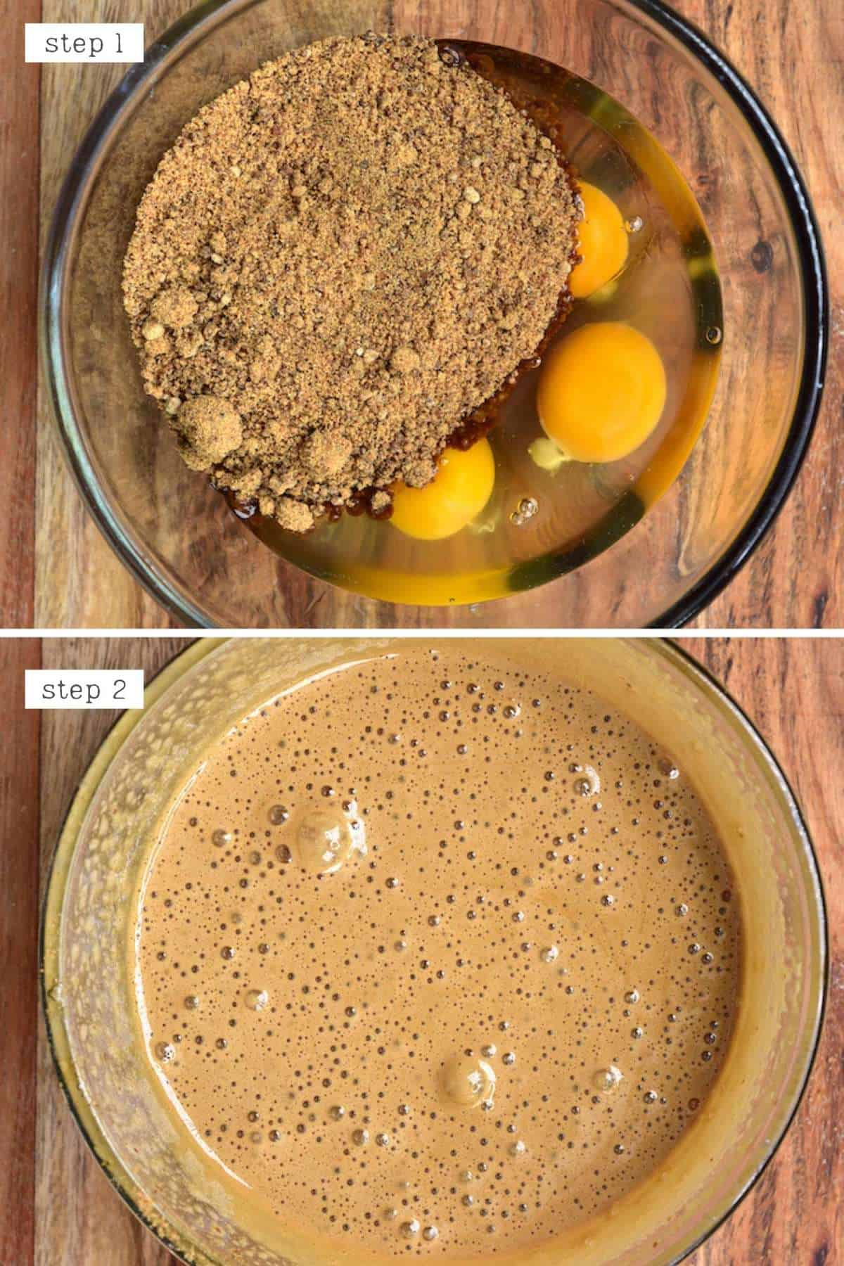 Mixing eggs and sugar