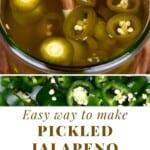 Pickled Jalapeños in a jar