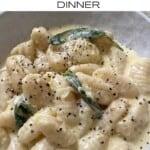 Close up of Potato Gnocchi