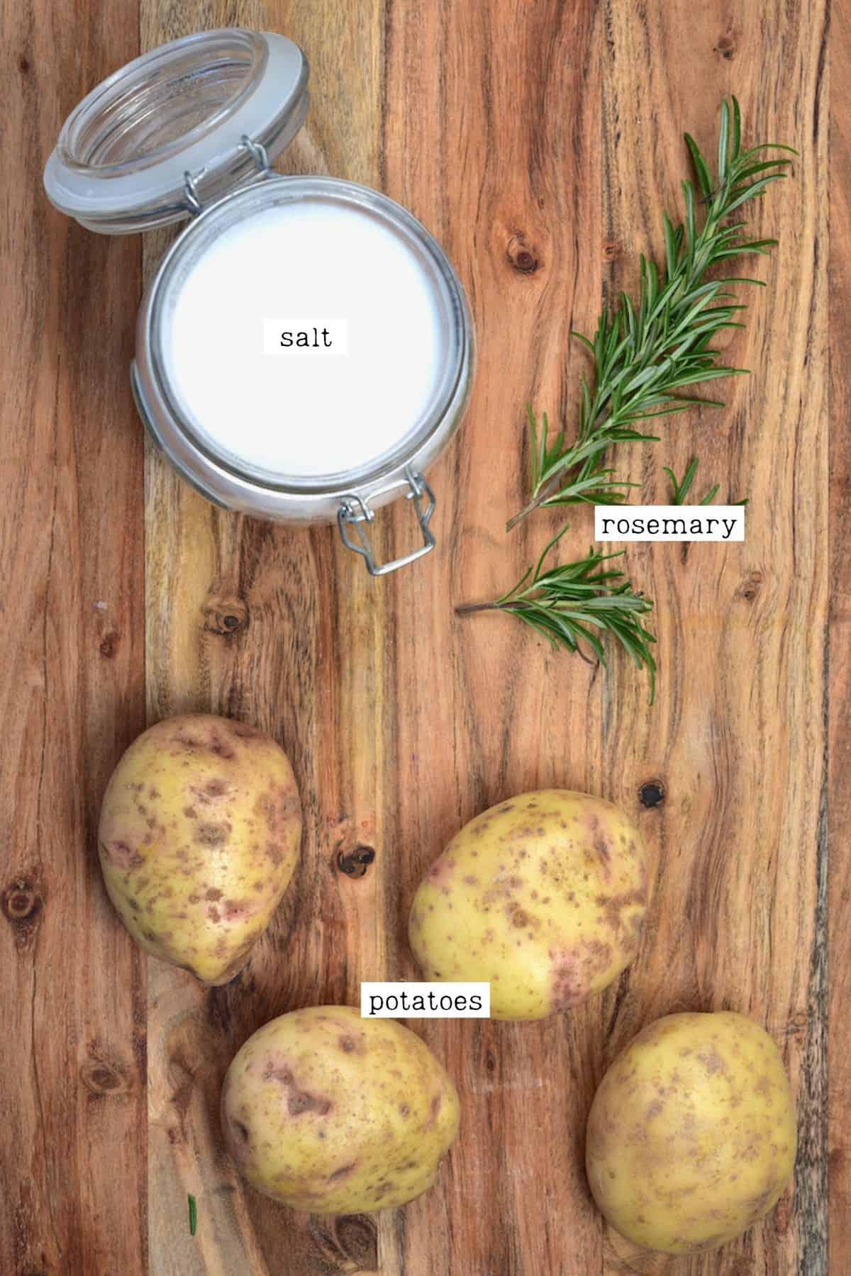 Salt Baked Potatoes Ingredients
