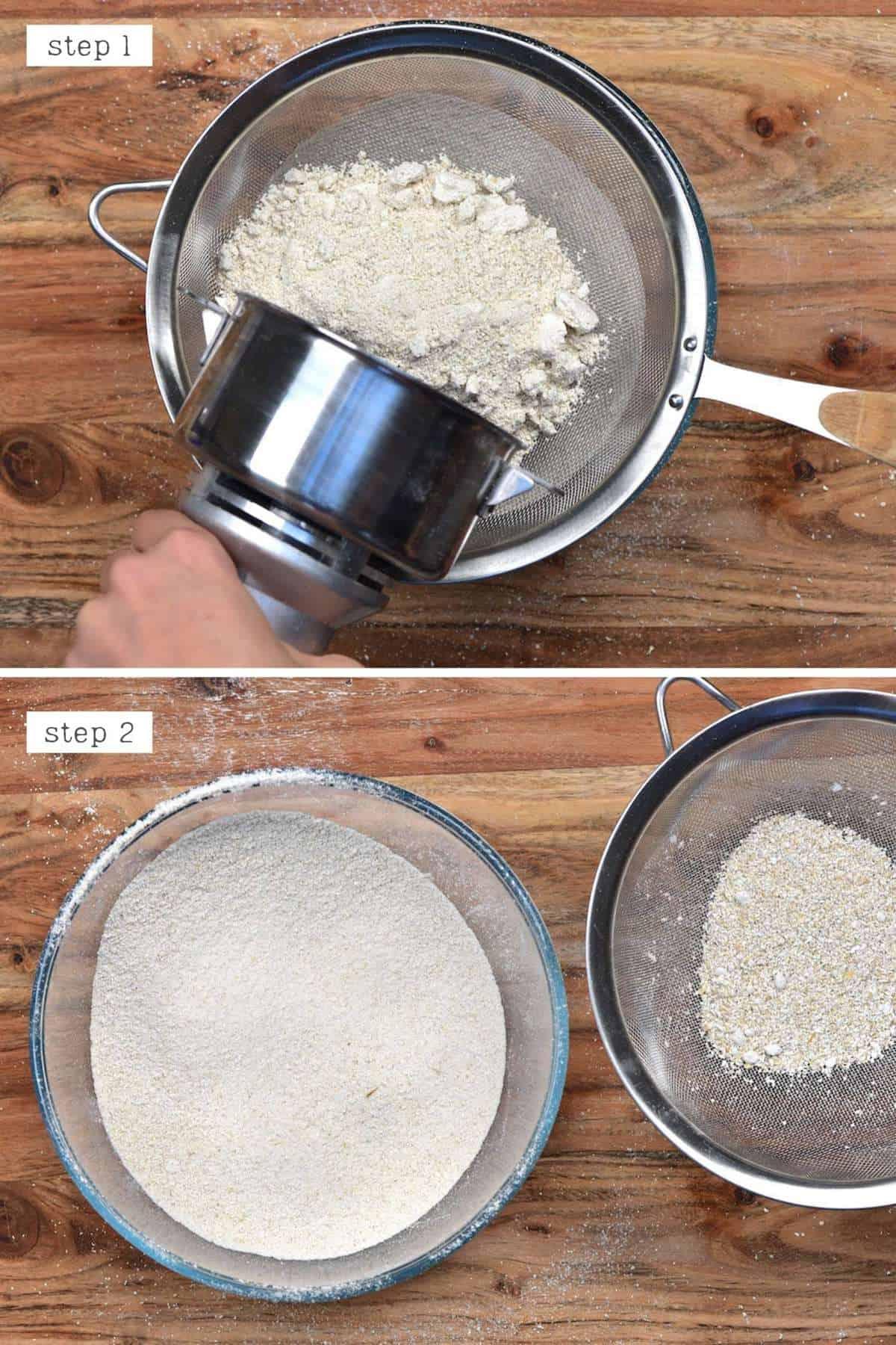 Sieving oat flour