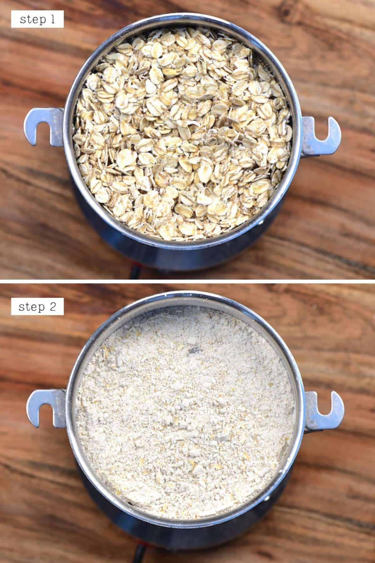 Steps for grinding oats