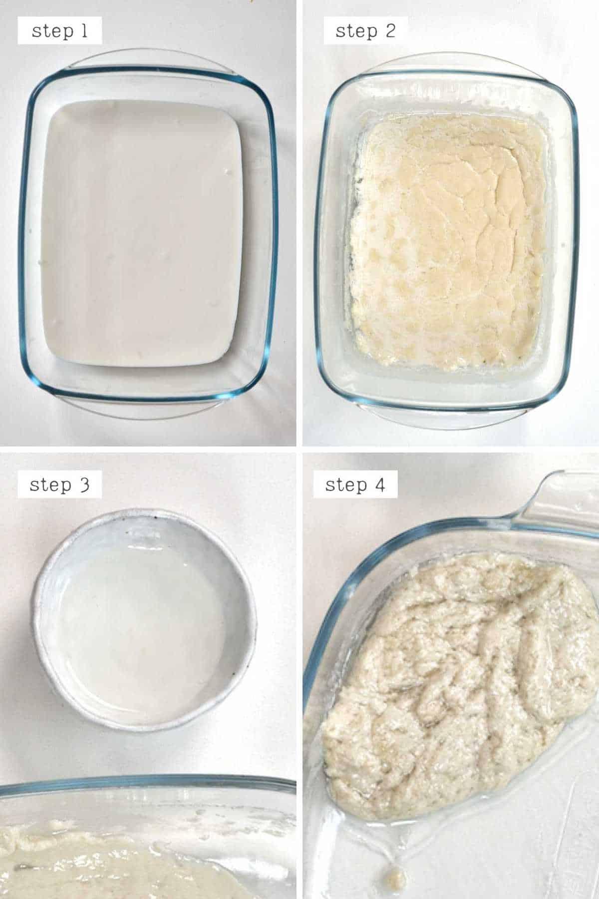 Steps for obtaining extra virgin coconut oil
