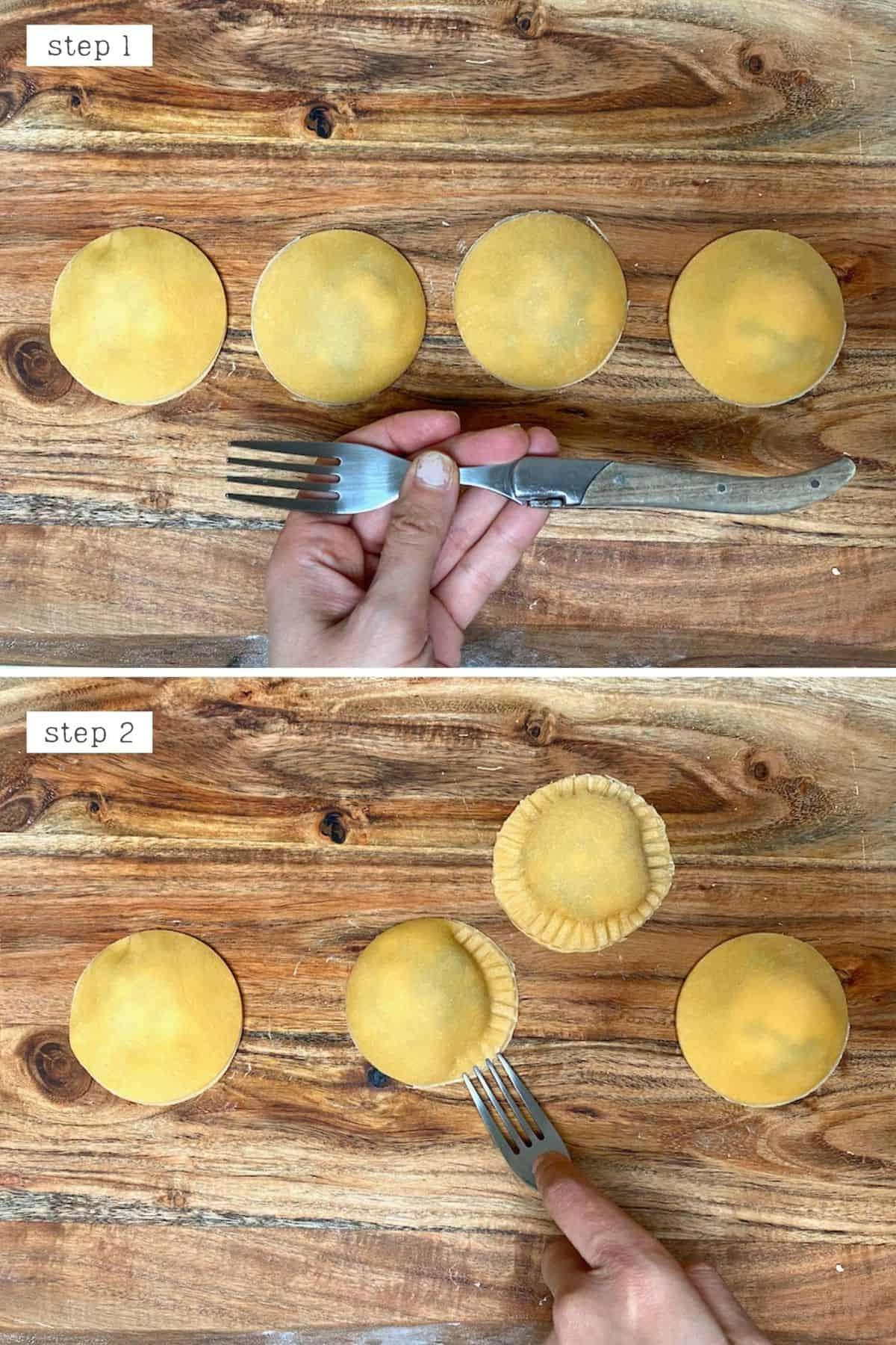 Steps for sealing ravioli
