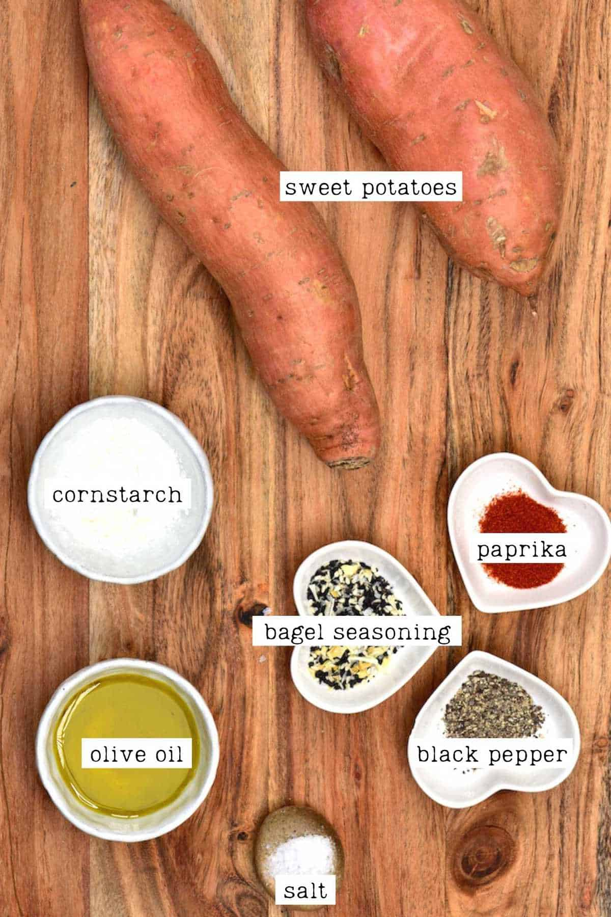 Sweet potato fries ingredients
