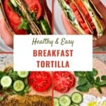 Breakfast tortillas with tomato, zaatar and labneh