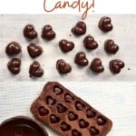 Steps for making chocolate candy