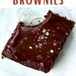 A square of fudgy brownies
