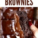 A hand holding a brownie