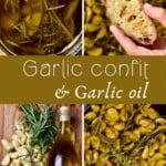 Steps for making garlic confit