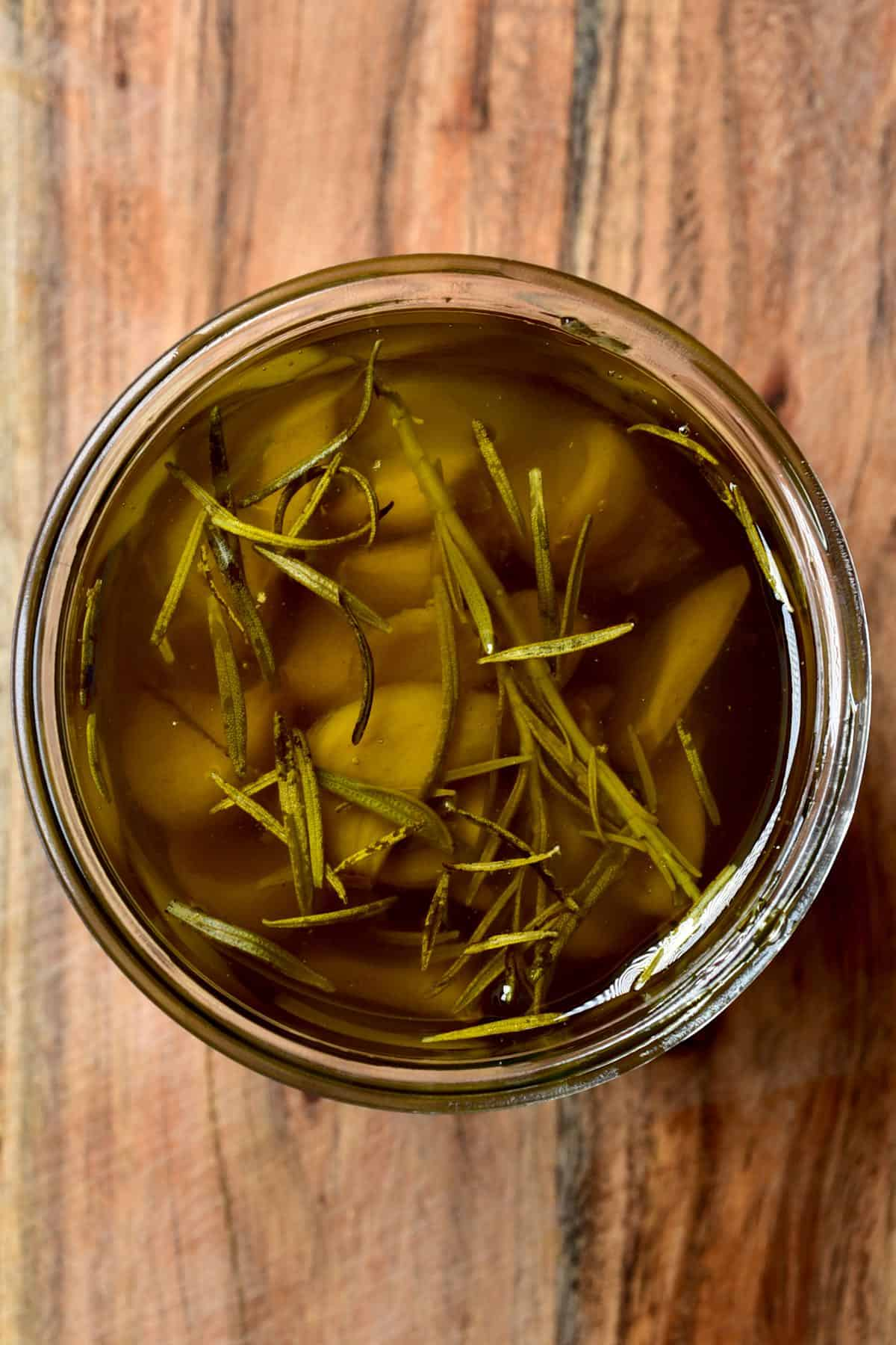 Garlic confit in a jar