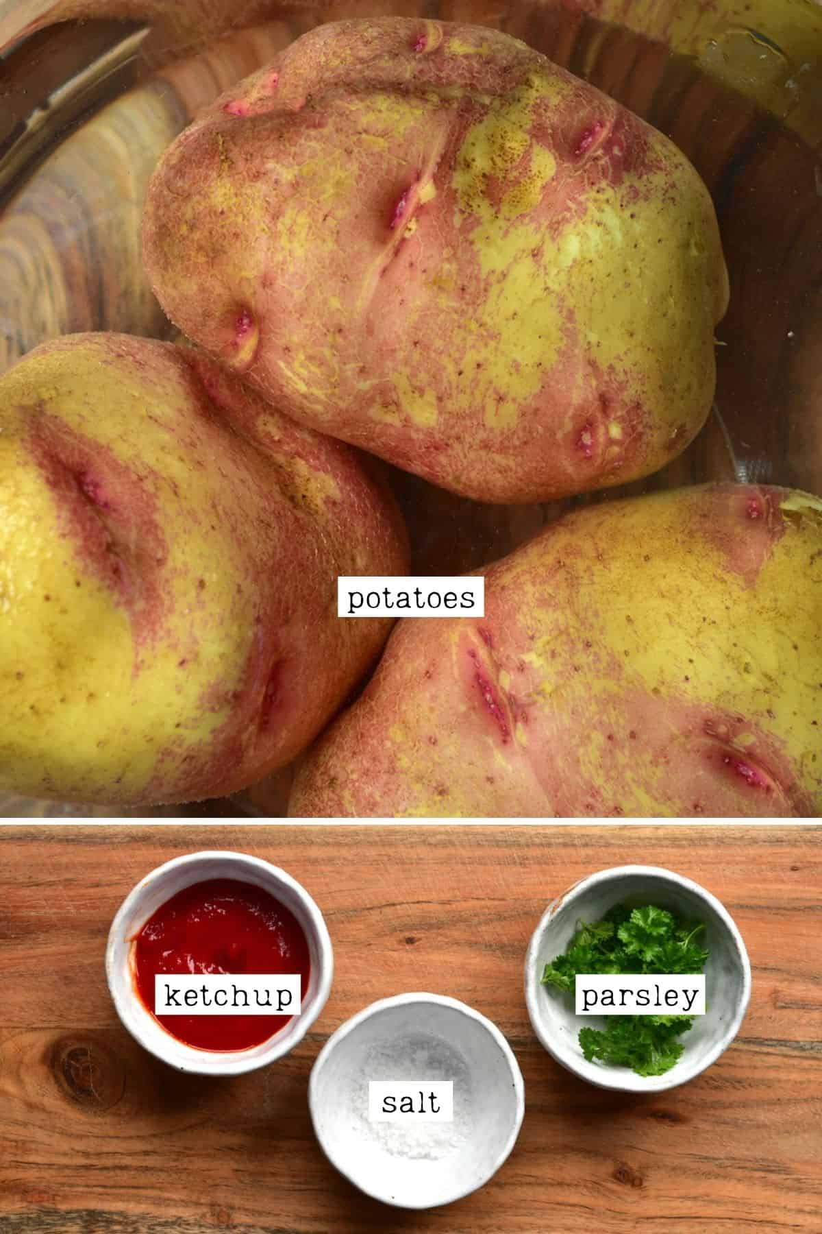 Ingredients for accordion potatoes