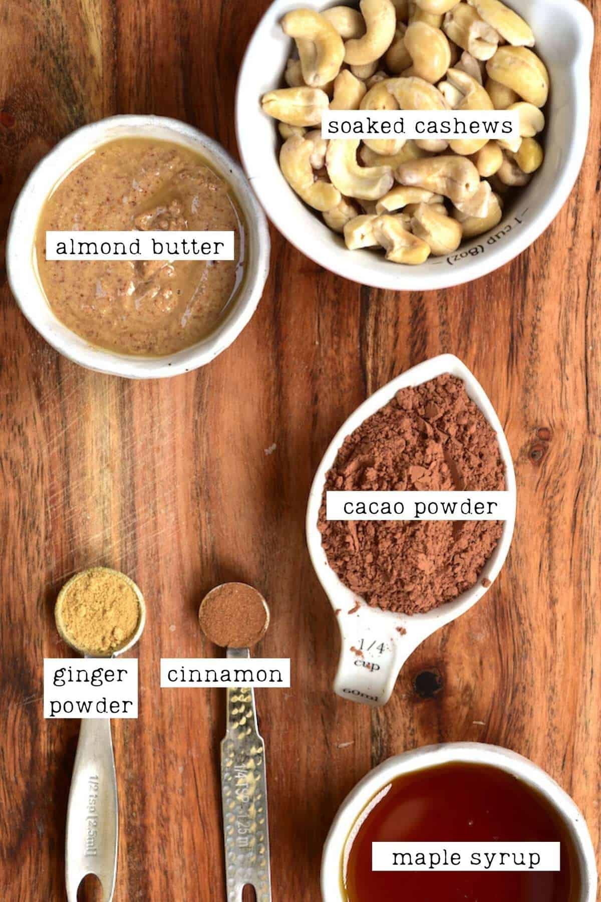 Ingredients for chocolate truffles