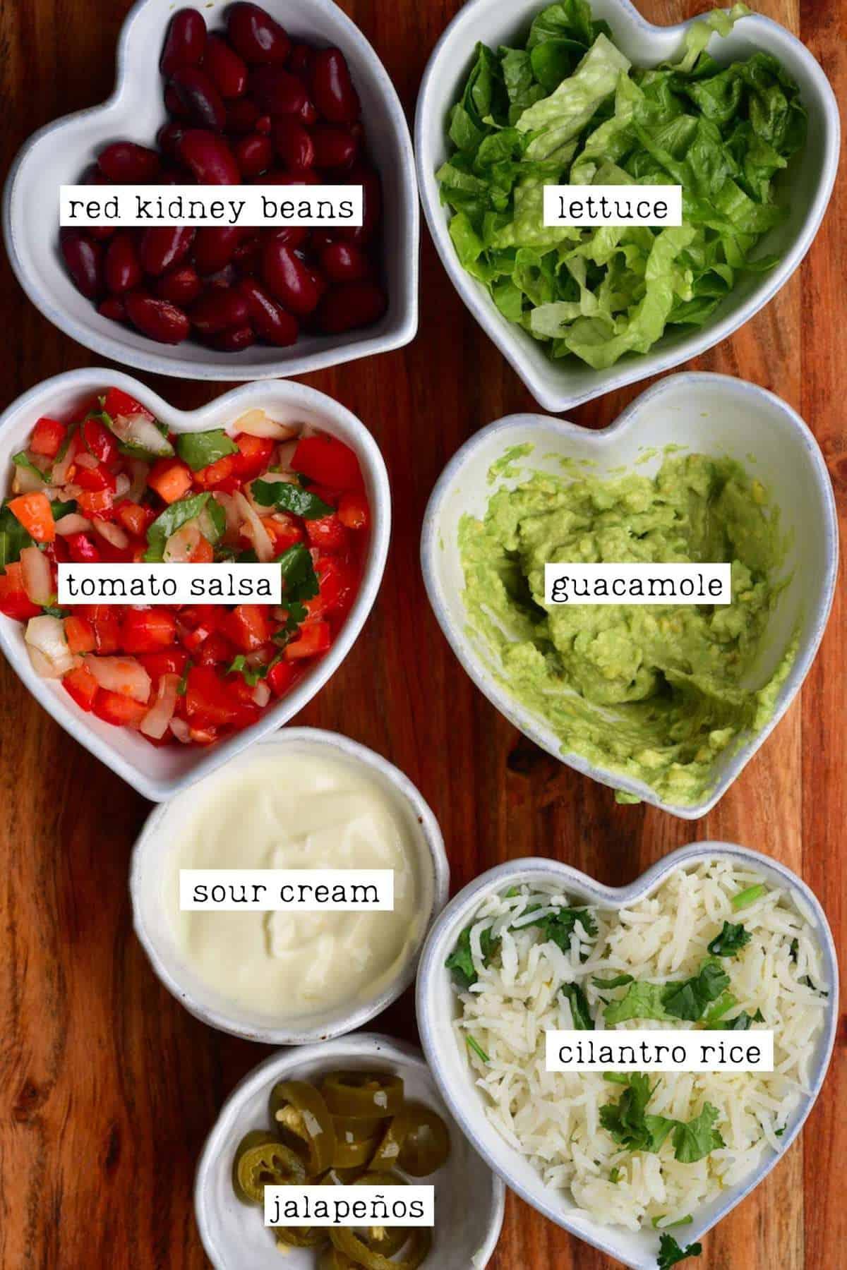 Ingredients for jackfruit burrito