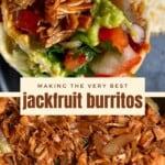 BBQ Jackfruit Veggie Burrito