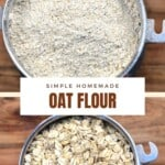 Steps for making oat flour
