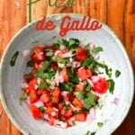 Pico de Gallo salsa in a bowl