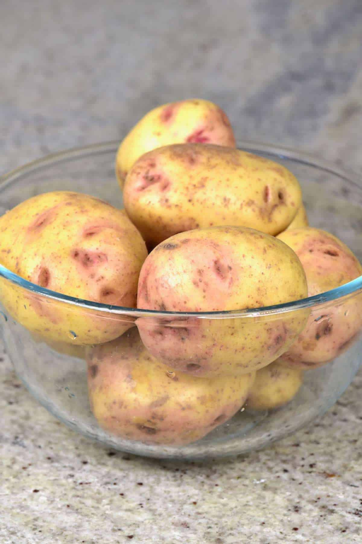 Potatoes in a bowl