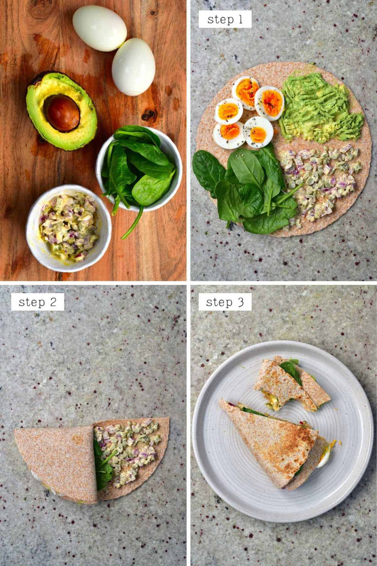Steps for making potato breakfast tortilla