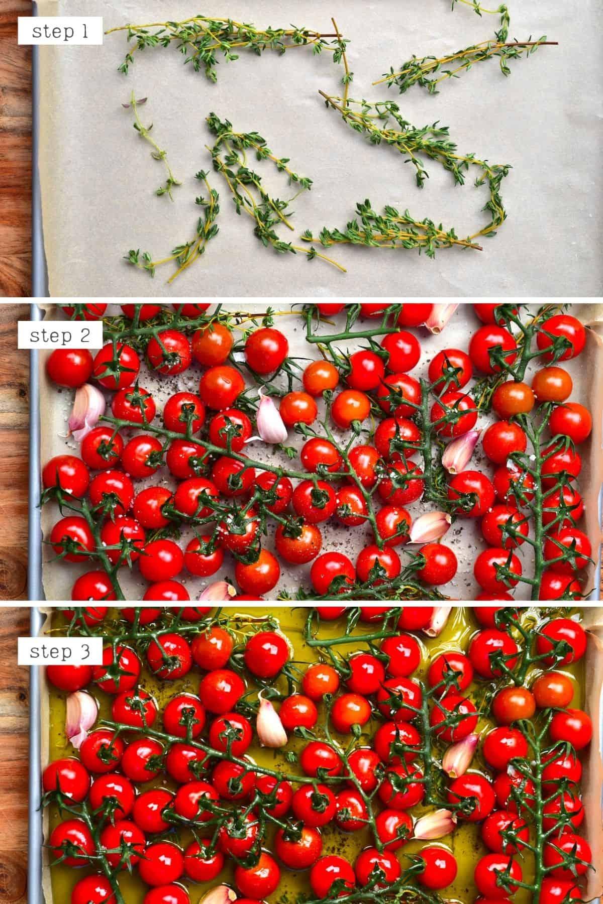 Steps for preparing tomato confit