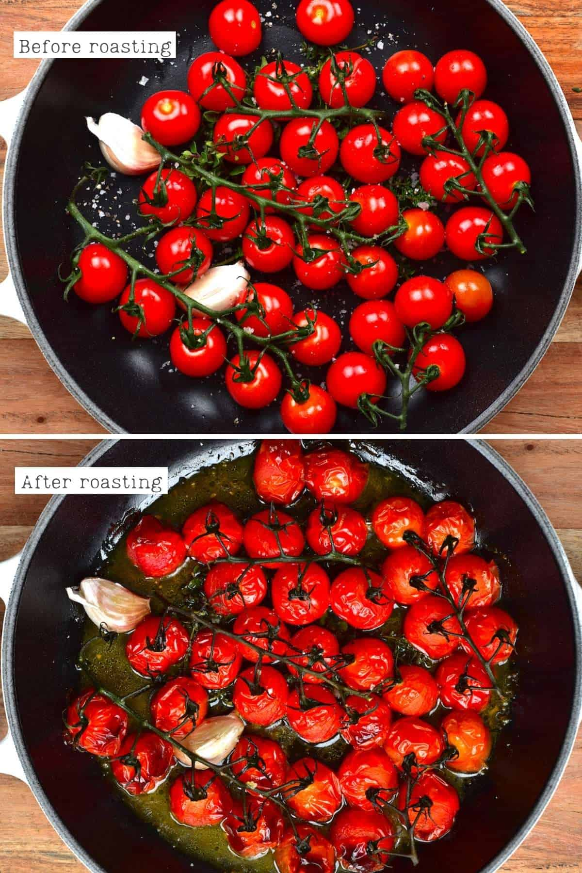 Steps for roasting tomatoes