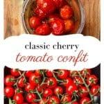 Cherry tomato and tomato confit in a jar