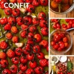 Steps to making Tomato confit