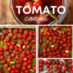 Steps for making Tomato confit
