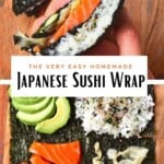 Steps for making sushi wrap with a hack