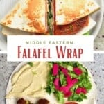Steps for making falafel wrap with a tortilla hack