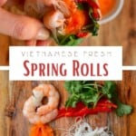 Steps for making spring rolls with a hack
