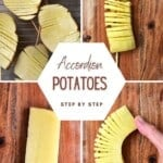 Steps for making accordion potatoes