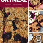 Steps for making blueberry baked oatmeal